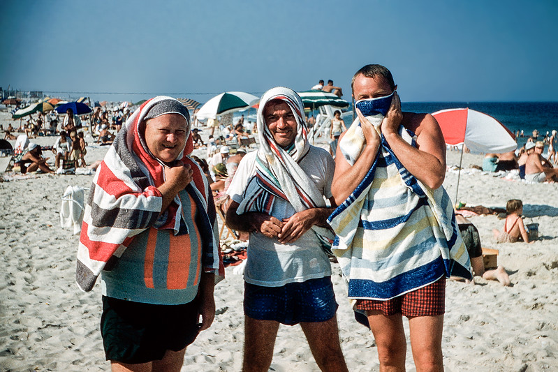 3 Towel men - Lavallette - 1957