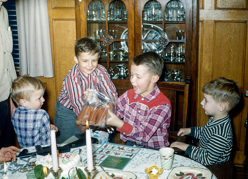 Greg's 9th birthday party - March 23, 1957