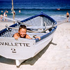 Greg in rescue boat - Lavallette - July 1957