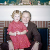 Dad with Kathy - Christmas 1957