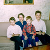 Aunt Florence with great nephews - Christmas 1957