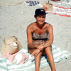 Mom in sailor's cap - Lavallette - 1957