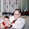 Phillip with his father Joe - Christmas 1957