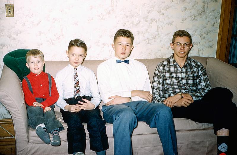 Four cousins - Christmas 1957