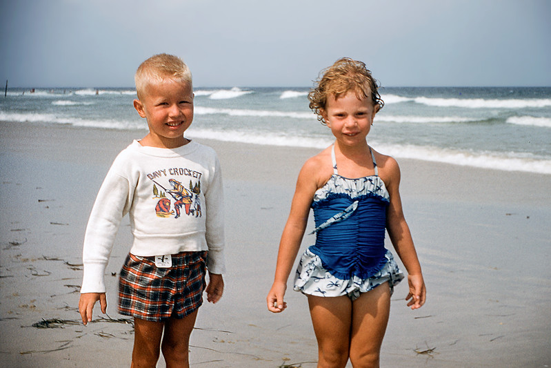 Barry & Kathy - Lavallette - July 1957