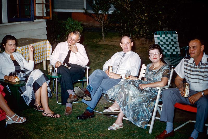 Robert's grammar school graduation party - June 1957