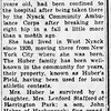 Edmunde Huber obituary - The Journal News - April 24, 1957