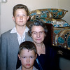 Aunt Florence with Robert & Greg in her QE stateroom