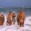 Hubers & Buists in the ocean - Lavallette - 1956