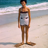 Aunt Ruth in flippers - Lavallette - 1956
