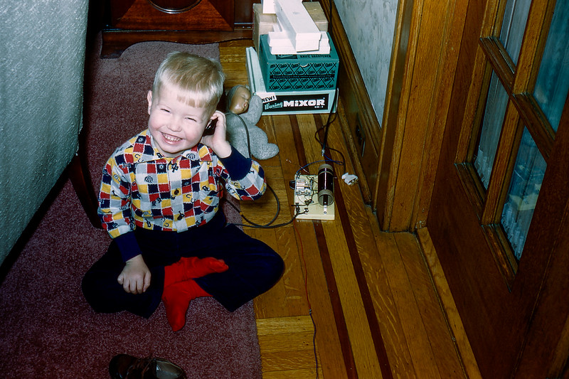 Barry playing - January 2, 1956
