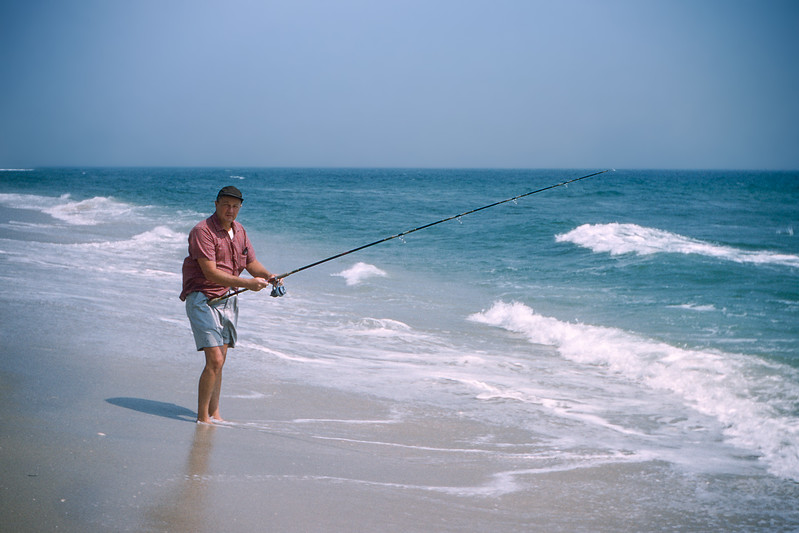 Dad fishing - Lavallette - August 1958