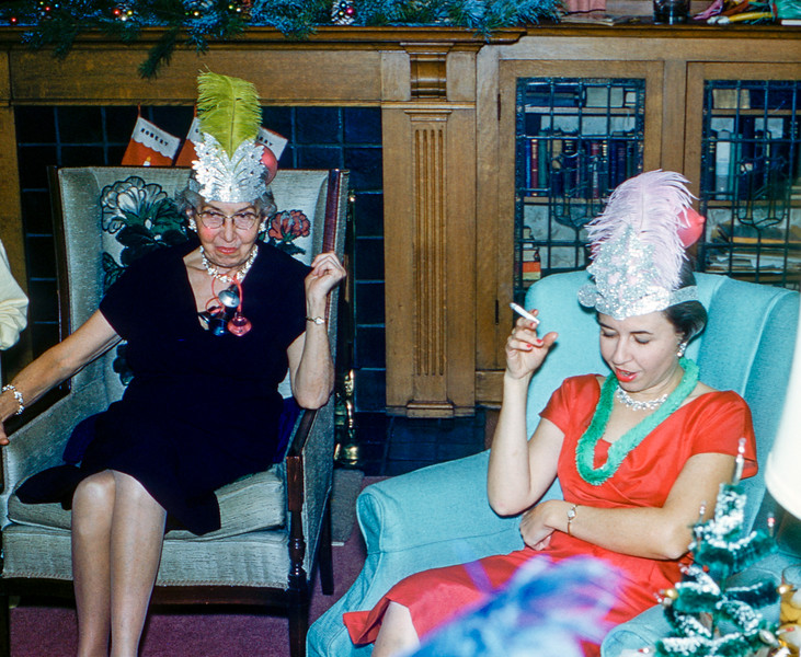 Nana & Carol Weiss at the New Years Eve party - 1958