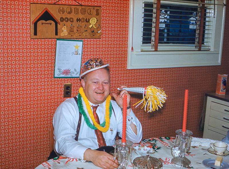 Joe celebrating at the New Year's party - 1958