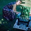Mom painting Barry's mini Adirondack Chair - June 1958