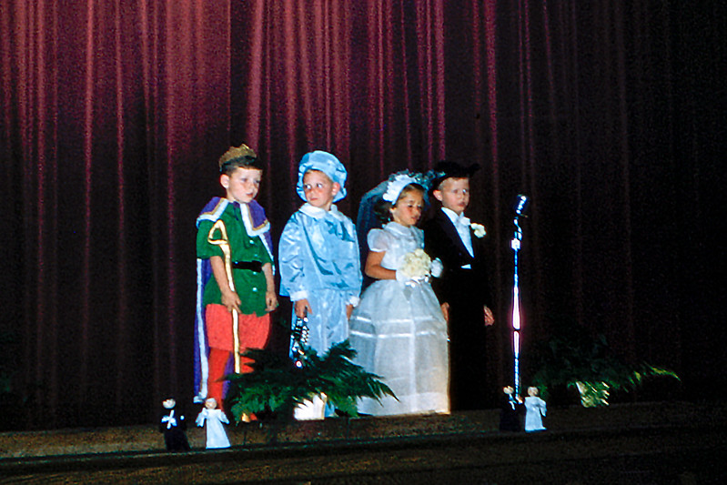 Barry on stage during the Kindergarten play - 1958