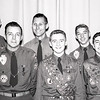 Robert & 3 other scouts at Eagle Scout award ceremony - June 20, 1959