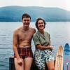Lake George - Robert & Mom - 1961