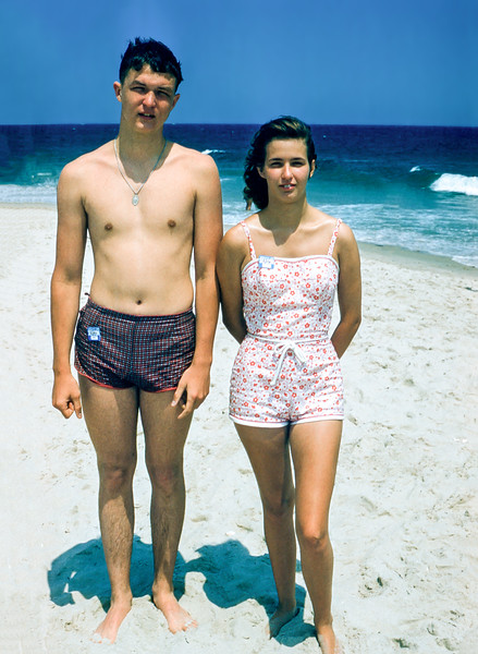 Robert & Nancy - Lavallette - 1960