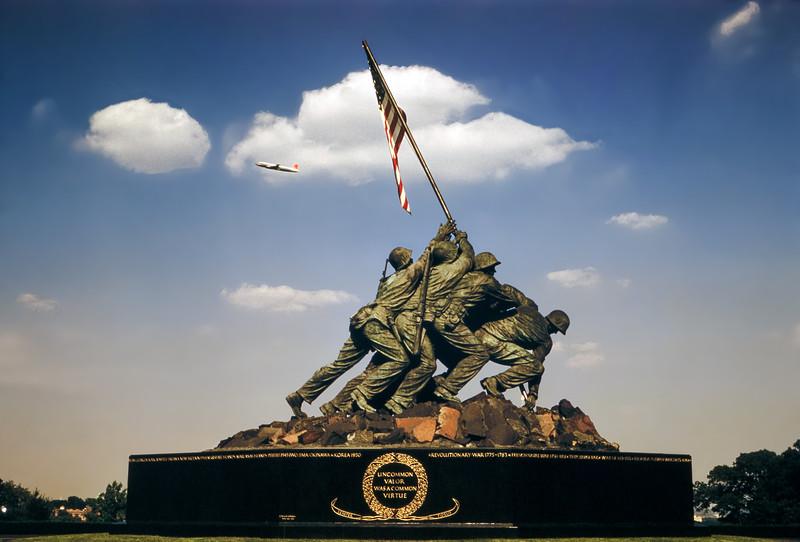 US Marine Corps War Memorial - Arlington, VA - 1960