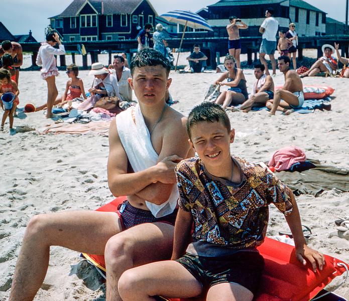 Lavallette - Robert & Greg - 1960