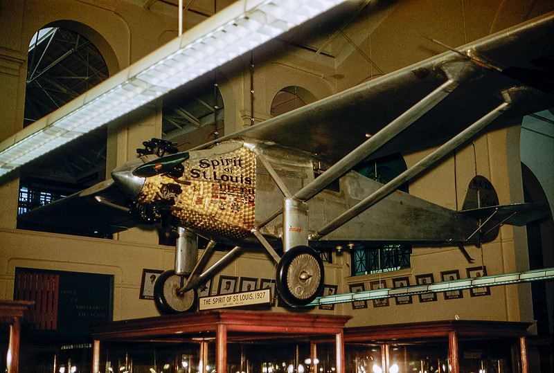Smithsonian Museum - Spirit of St. Louis - 1960