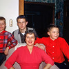 Mom with Barry, Robert & Greg - March 1960