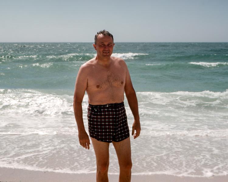 Sarasota - Dad on the beach - 1962