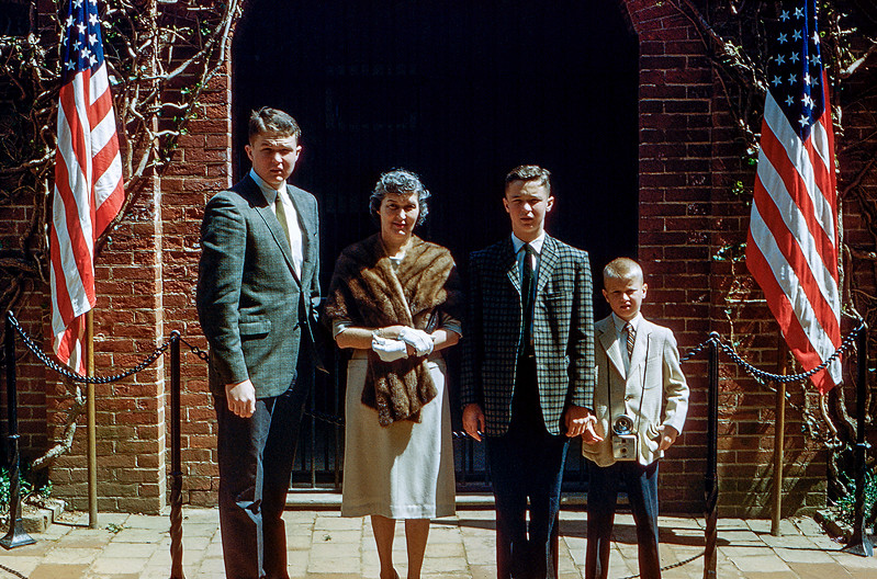 Robert, Mom, Greg & Barry - Washington D.C. - 1961