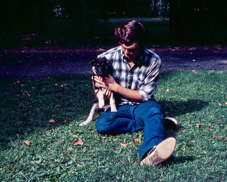 Greg & Skylla as a pup - August 1971