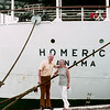 Dad & Mom cruising on the Homeric - 1972
