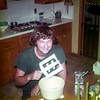 Greg 'cleaning' the ice cream spindle - October 1975