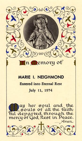 Nana's Mass card