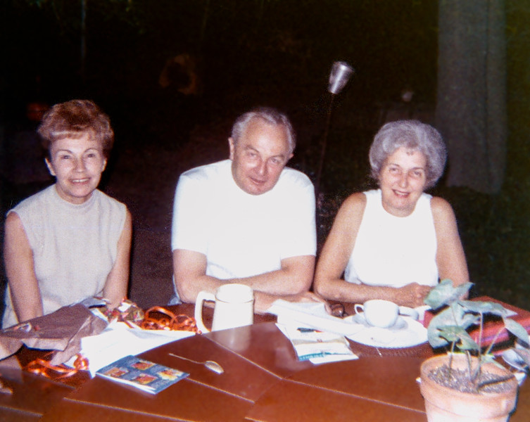 Aunt Ruth's birthday with Dad & Mom - July 4, 1971