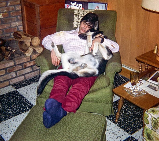 Christmas 1972 - Skylla with Kelly Hays