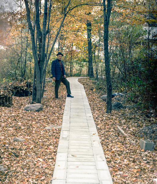 Dad's beloved path through the woods of 178 - October 28, 1973