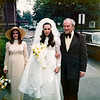 Boni, Dad & Carol arriving at the church - May 26, 1973