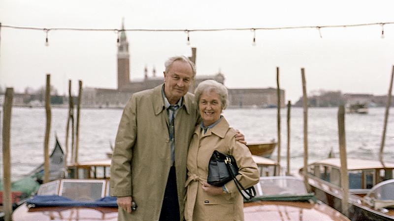 Dad & Mom in Venice, Italy circa 1980