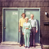Syracuse U. - Barry, Mom & Dad by his Sr. year townhouse - 1974