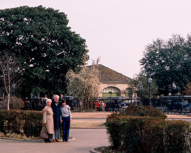 New Orleans - Mom, Dad & Mercedes by the Café du Monde - 1984