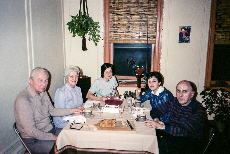 Leonia - New Year's dinner with both parents - 1982