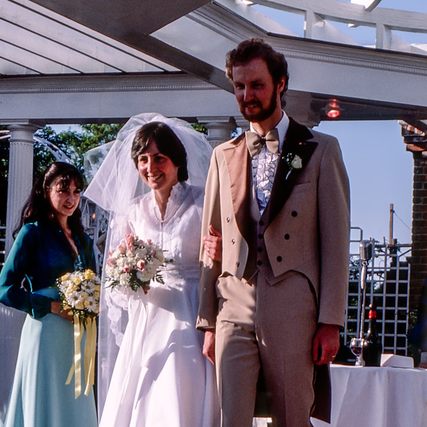 Mercedes & Barry after the ceremony - 1981