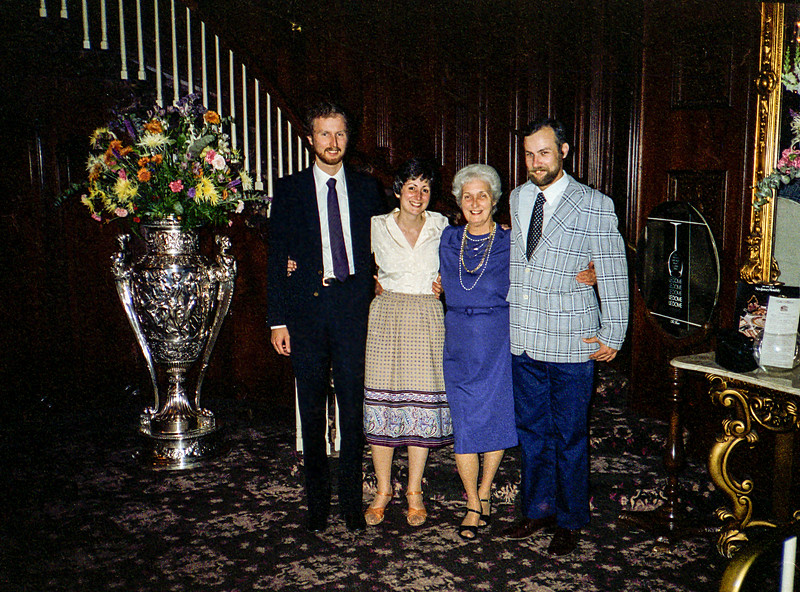 Barry, Mercedes, Mom & Jay inside The Manor - 1982