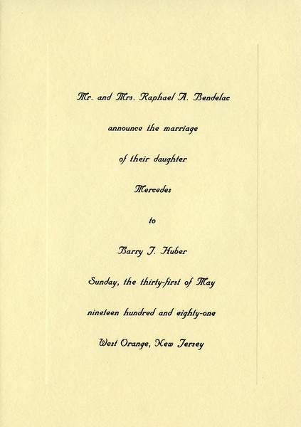 Mercedes & Barry's wedding announcement