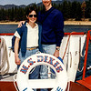 Lake Tahoe - Mercedes & Barry aboard the M.S. Dixie - 1993