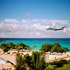 St. Martin - Pan Am plane approaches landing - 1989