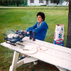 1981 - Lake Sacandaga - Alegria supervising the barbeque