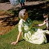 Aunt Muriel & Dobbie in backyard - 1964