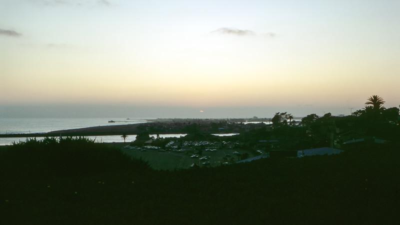 Newport Beach at sunset (L) - 1964