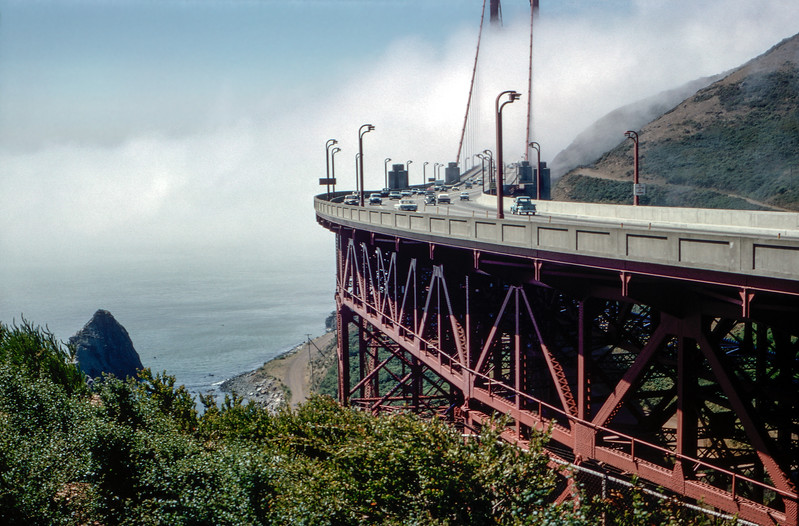 On the Golden Gate Bridge - 1964